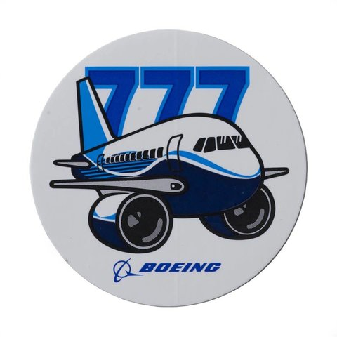 777 Pudgy Plane Sticker