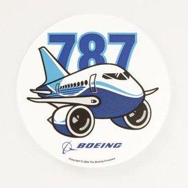 """Boeing Store 787 Pudgy Plane Sticker round 3"""""""