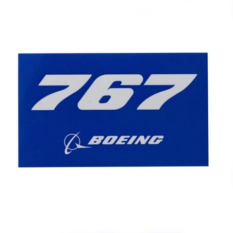767 Blue Rectangle Sticker