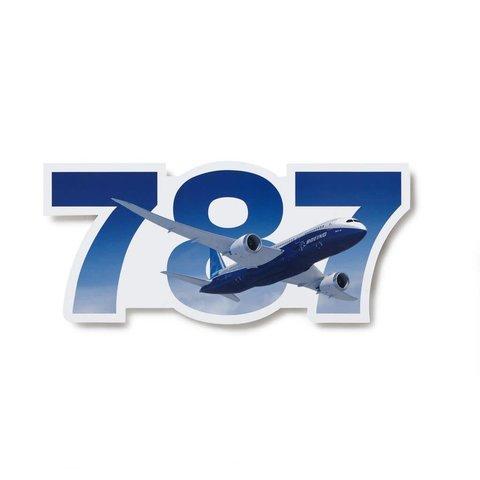 787 Program Boeing Die Cut Sticker