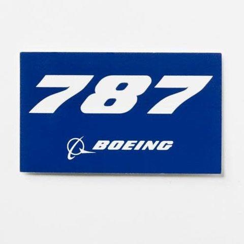 787 Blue Rectangle Sticker