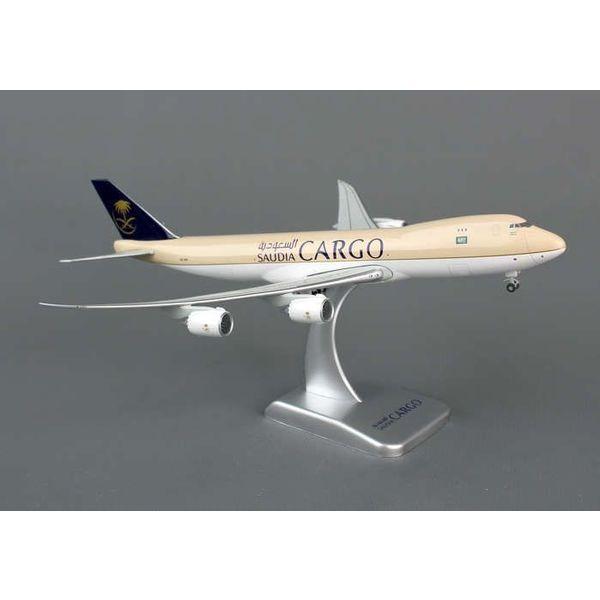 Hogan HOGAN SAUDI CARGO 747-8F 1/400 FLEXED WINGS & STAND #HZ-A14