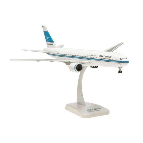B777-200ER Kuwait Airways Al Qurain 9K-AOA 1:200 with gear+stand