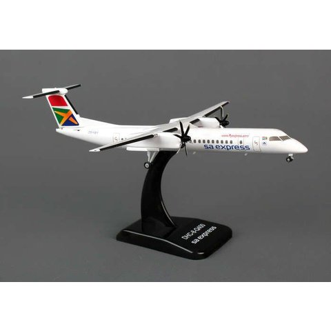 dash8 Q400 South African sa express ZS-YBY 1:200 DieCast with stand