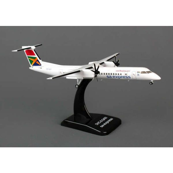 Hogan dash8 Q400 South African sa express ZS-YBY 1:200 DieCast with stand