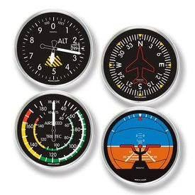 Trintec Industries Classic Round Instrument Coasters Set  4 piece