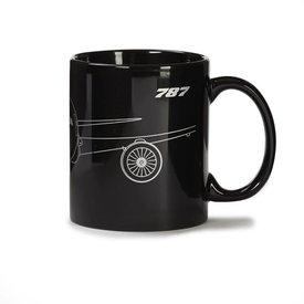 787 Dreamliner Midnight Silver Mug