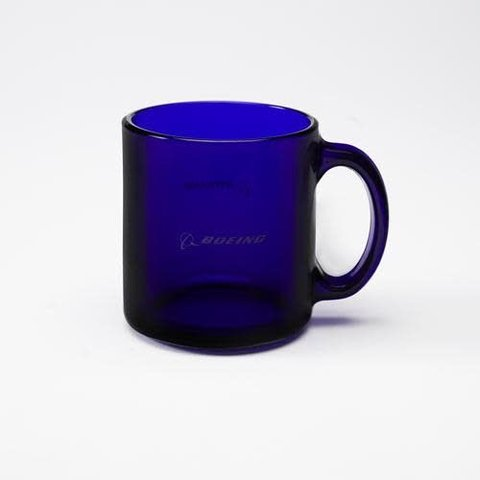 Mug Boeing Blue Glass