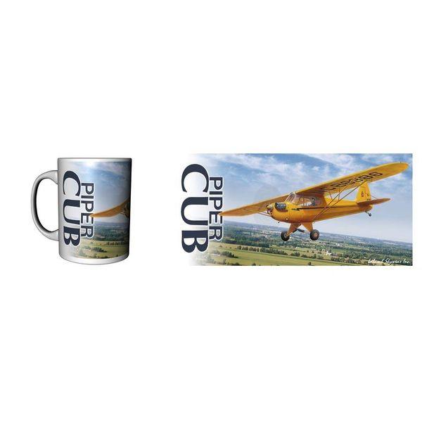 Labusch Skywear Mug J-3 Piper Cub Ceramic
