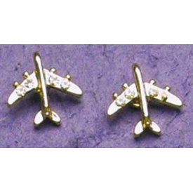 Gold Crystal Jet Earrings