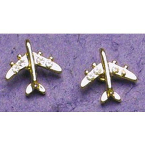 Gold Crystal Jet Earrings