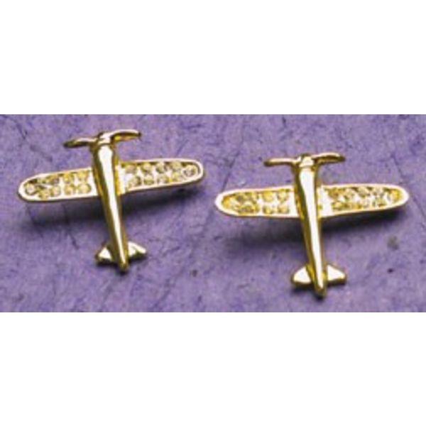 Gold Crystal AP Earrings