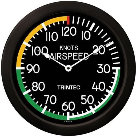 Modern Airspeed Indicator Wall Clock