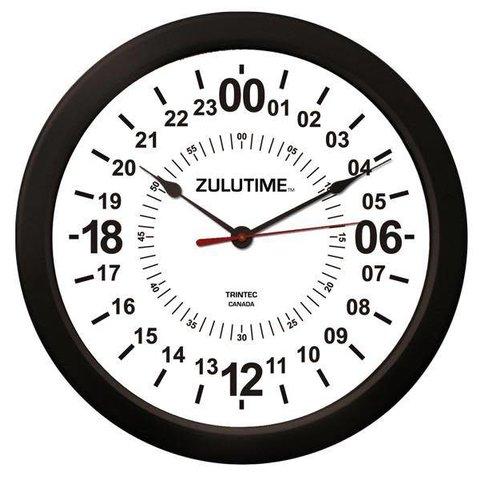 """14"""" ZULUTIME™ 24-Hour Wall Clock"""