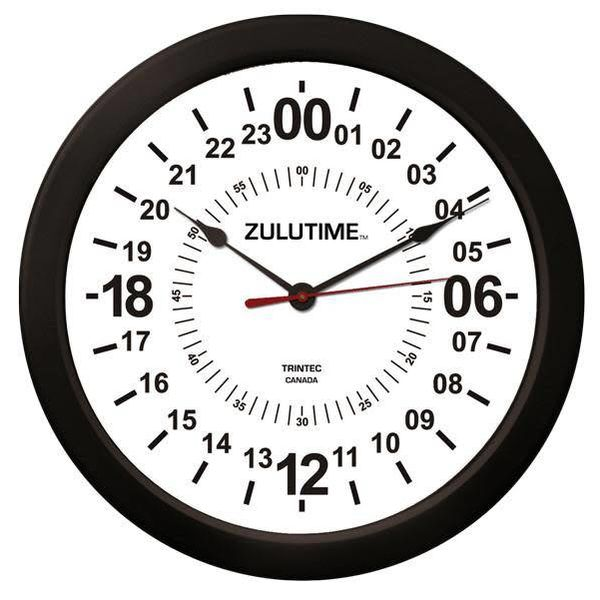 "Trintec Industries 14"" ZULUTIME™ 24-Hour Clock"