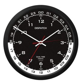 "Trintec Industries 10"" Dispatch Dual Time Wall Clock"