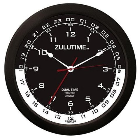 "14"" ZULUTIME Clock (Black/White Dial)"
