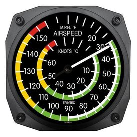 Trintec Industries Classic Airspeed Indicator Thermometer