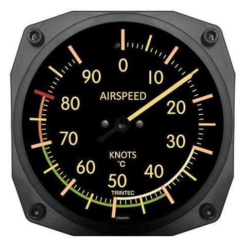 Vintage Airspeed Indicator Thermometer 0 Celsius