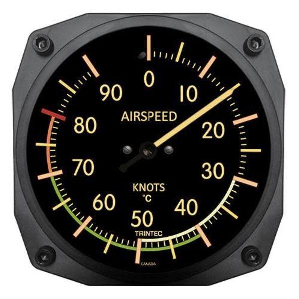 Trintec Industries Vintage Airspeed Indicator Thermometer 0 Celsius