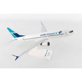 SkyMarks B737 MAX8 WestJet Old Livery 1:130 with stand