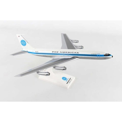 B707 Pan Am  Jet Clipper Monsoon N415PA 1:150 with stand (no gear)
