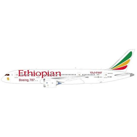 B787-8 Ethiopian ET-AOS 1:200 with stand