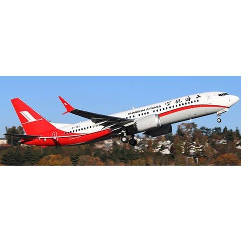 B737 MAX8 Shanghai Airlines B-1382 1:200 with stand