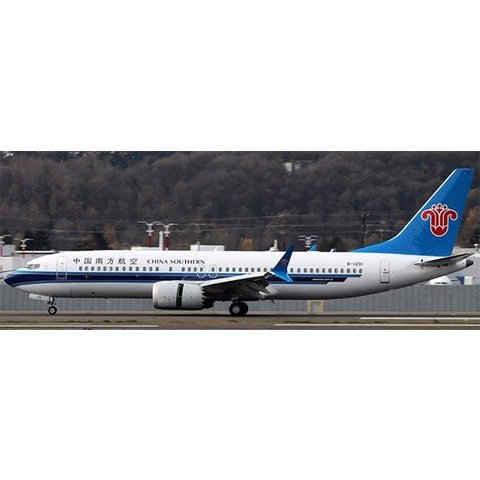 B737 MAX8 China Southern B-1201 1:200 with stand