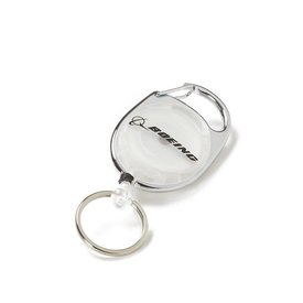 Boeing Store Badge Holder Carabiner Boeing Retro White