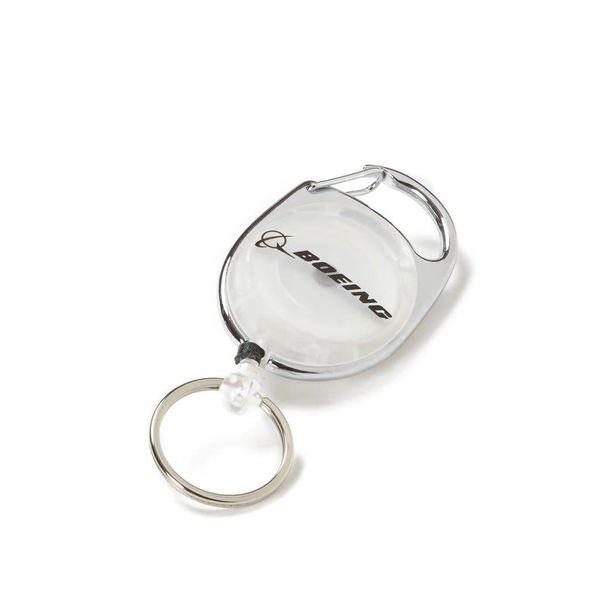 Boeing Store Badge Holder Carabiner Boeing Retro White