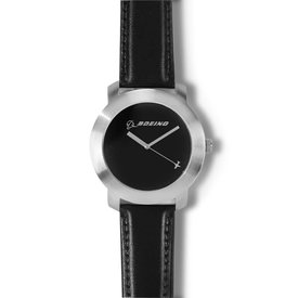 Boeing Store Silver Rotating Airplane Watch