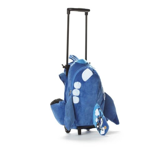 Pudgy Airplane Trolley Bag Blue
