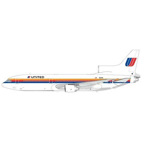 L1011-500 United Airlines Saul Bass livery N501PA 1:200 with Stand**o/p**