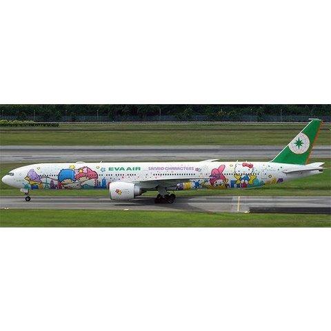 B777-300ER Eva Air Sanrio Characters B-16722 1:400 flaps down