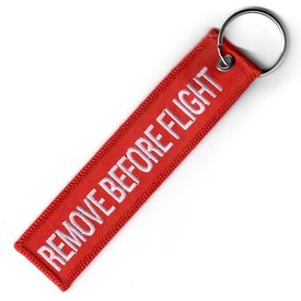 avworld.ca Key Chain RBF Remove Before Flight Embroidered