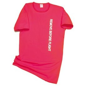 Remove Before Flight Night Shirt Red Short Light One Size