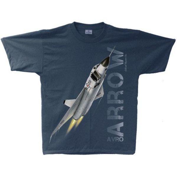 Labusch Skywear Avro Arrow Adult T-Shirt Navy