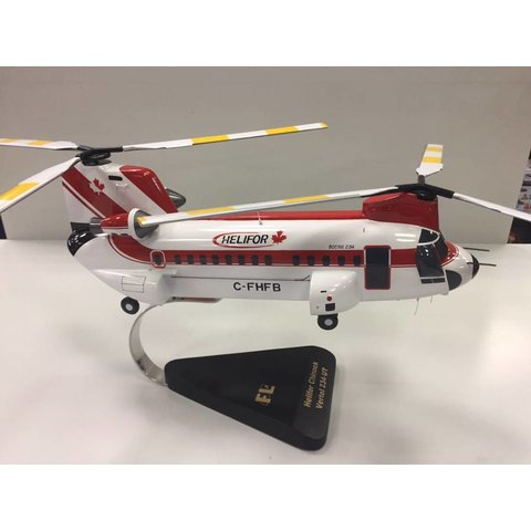 Flightline Vertol 234 HELIFOR Canada red/white Mahogany w/stand