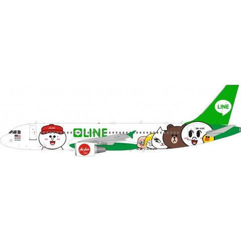 A320 AirAsia Line Friends Livery 9M-AHR 1:200 With Stand