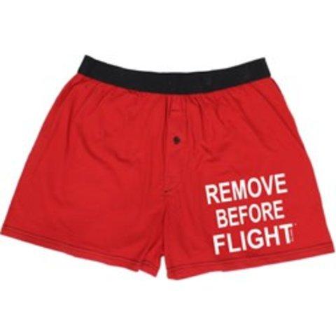 Boxer Shorts Remove Before Flight