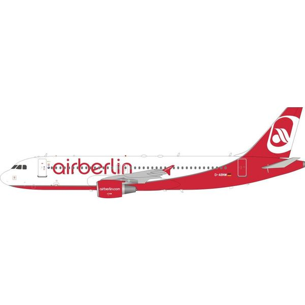 InFlight A320 Air Berlin D-ABNW 1:200 with stand