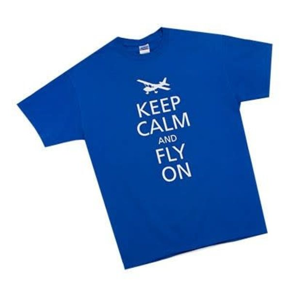 Sporty's Keep Calm and Fly On T-Shirt Blue