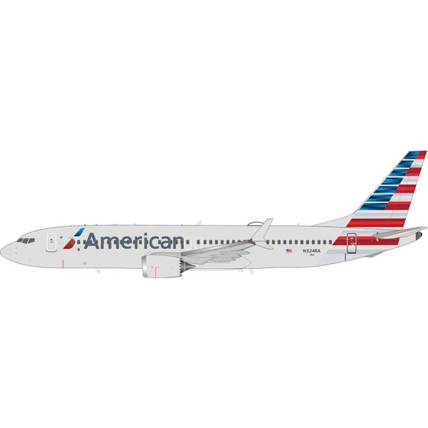 InFlight B737 MAX8 American Airlines 2013 livery N324RA 1:200 With Stand