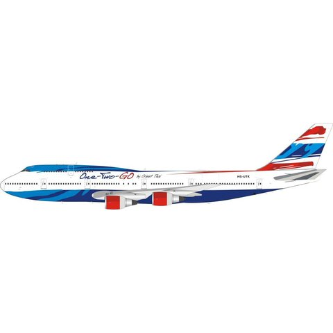 B747-300 One-Two-Go by Orient Thai HS-UTK 1:200 With Stand (Limited edition 100 pcs)