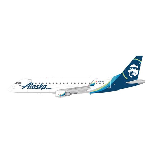 Gemini Jets ERJ175 Alaska New Livery 2015 N182SY 1:200 with stand+New Mold+