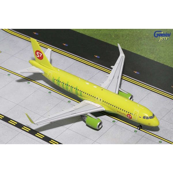Gemini Jets A320S S7 Sibir Sharklets Air 1:200 with stand