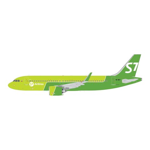 A320neo S7 Sibir Airlines VQ-BCF 1:200 with stand