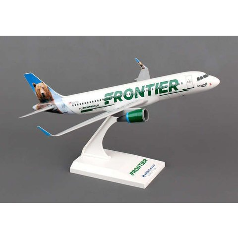 A320S Frontier New Livery 2014 Sharklets Grizwald The Bear 1:150 with stand (no gear)
