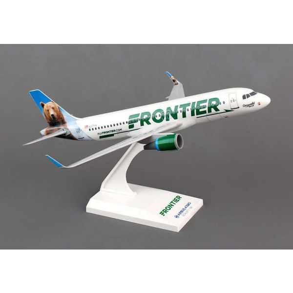 SkyMarks A320S Frontier New Livery 2014 Sharklets Grizwald The Bear 1:150 with stand (no gear)